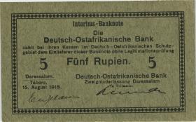 """R.910c: Deutsch-Ostafrika 5 Rupien 1915 C (2) """"Neugebauer"""""""