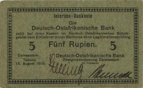 R.910g: Deutsch-Ostafrika 5 Rupien 1915 B (1/1-)