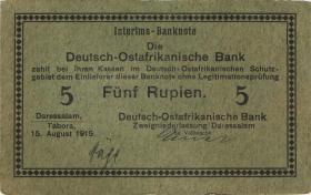 """R.910i: Deutsch-Ostafrika 5 Rupien 1915 C (2) """"Häge"""""""