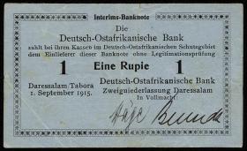 R.911: Deutsch-Ostafrika 1 Rupie 1915 A (3+)