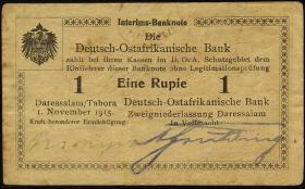 R.916e: Deutsch-Ostafrika 1 Rupie 1915 C (3)