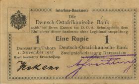 R.916j: Deutsch-Ostafrika 1 Rupie 1915 R 4-stellig (2)