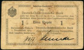 R.916k: Deutsch-Ostafrika 1 Rupie 1915 S (3)