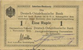 R.917d: Deutsch-Ostafrika 1 Rupie 1915 D (1-)