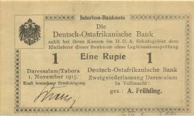 R.918a: Deutsch-Ostafrika 1 Rupie 1915 G (1) mit No