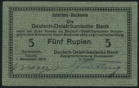 R.920: Deutsch-Ostafrika 5 Rupien 1915 D (1)