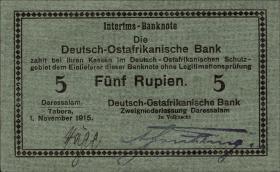 R.920: Deutsch-Ostafrika 5 Rupien 1915 D (1/1-)