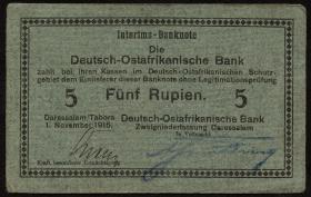 R.921a: Deutsch-Ostafrika 5 Rupien 1915 (2)