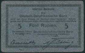 R.921Ah: Deutsch-Ostafrika 5 Rupien 1915 E (2)