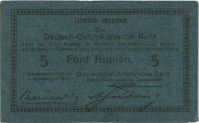 R.921Aj: Deutsch-Ostafrika 5 Rupien 1915 F (1-)