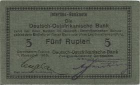 R.921b: Deutsch-Ostafrika 5 Rupien 1915 E (1-)