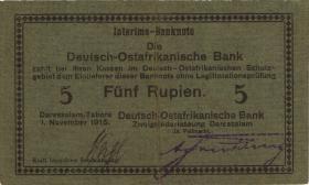 R.921d: Deutsch-Ostafrika 5 Rupien 1915 E (2)