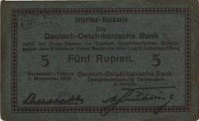 R.921h: Deutsch-Ostafrika 5 Rupien 1915 F (3)