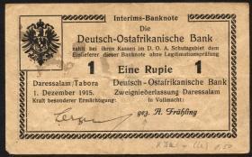 R.924i: Deutsch-Ostafrika 1 Rupie 1915 K (3+)