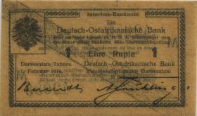R.927f: Deutsch-Ostafrika 1 Rupie 1916 N Ölpapier (1)