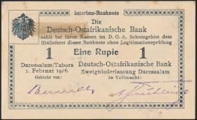 R.928ad: Deutsch-Ostafrika 1 Rupie 1916 A4 (1-)