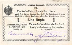 R.928f: Deutsch-Ostafrika 1 Rupie 1916 L2 mit Wasserzeichen (1)