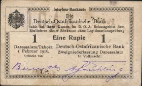 R.928j: Deutsch-Ostafrika 1 Rupie 1916 P2 (1-)