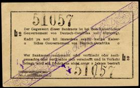 R.928F1: Deutsch-Ostafrika 1 Rupie 1915 L2 links Fehldruck b2 (1)