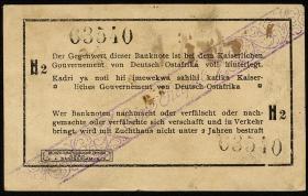 R.928F2: Deutsch-Ostafrika 1 Rupie 1915 H2 Fehldruck (1-)