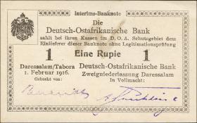 R.928f: Deutsch-Ostafrika 1 Rupie 1916 L2 (1)