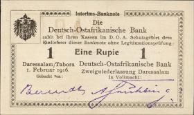 R.928q: Deutsch-Ostafrika 1 Rupie 1916 W2 (1)