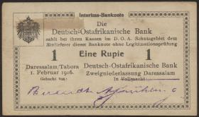 R.928s: Deutsch-Ostafrika 1 Rupie 1916 (1-)