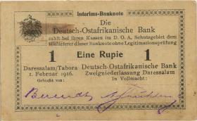 R.929F: Deutsch-Ostafrika 1 Rupie 1916 P3 (1/1-)