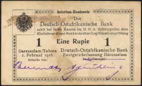 R.929g: Deutsch-Ostafrika 1 Rupie 1916 N3 (1-)
