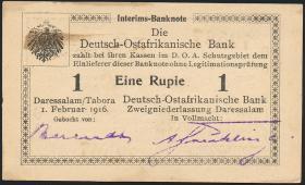 R.929h: Deutsch-Ostafrika 1 Rupie 1916 O3 (1-)