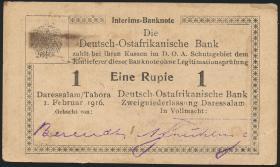 R.929i: Deutsch-Ostafrika 1 Rupie 1916 P3 (2)