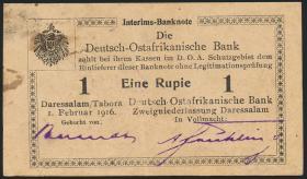 R.929j: Deutsch-Ostafrika 1 Rupie 1916 P3 (2)