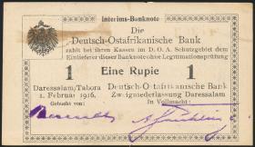 R.929m: Deutsch-Ostafrika 1 Rupie 1916 Q3 (2)
