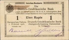 R.929p: Deutsch-Ostafrika 1 Rupie 1916 Q3 (1)