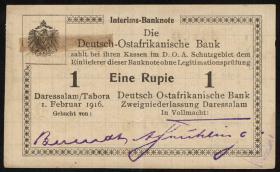 R.929r: Deutsch-Ostafrika 1 Rupie 1916 Q3 (2)