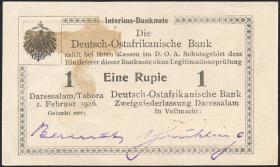 R.929s: Deutsch-Ostafrika 1 Rupie 1916 R3 (1-)