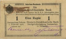 R.929t: Deutsch-Ostafrika 1 Rupie 1916 S3 Gebucht von. (2)