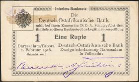 R.929u: Deutsch-Ostafrika 1 Rupie 1916 T3 (1-)