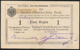 R.929v: Deutsch-Ostafrika 1 Rupie 1916 U3 (1-)