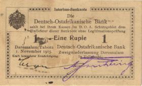 R.931b: Deutsch-Ostafrika 1 Rupie 1915 mit Überdruck X (2)