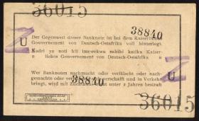 R.932b: Deutsch-Ostafrika 1 Rupie 1915 mit Überstempelung Z (1-)