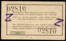 R.932c: Deutsch-Ostafrika 1 Rupie 1915 mit Überstempelung Z (1-)
