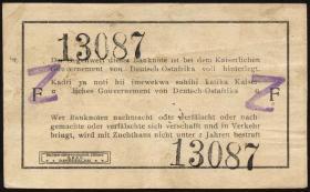 R.932c: Deutsch-Ostafrika 1 Rupie 1915 mit Überstempelung (2)