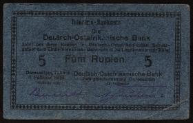 R.933e: Deutsch-Ostafrika 5 Rupien 1916 F (3)