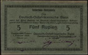 R.933i: Deutsch-Ostafrika 5 Rupien 1916 (1/1-)