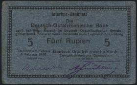 R.933l: Deutsch-Ostafrika 5 Rupien 1916 G (2)