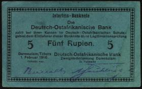 R.933m: Deutsch-Ostafrika 5 Rupien 1916 G (2)