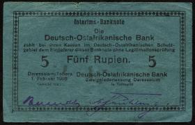 R.933m: Deutsch-Ostafrika 5 Rupien 1916 G (3)
