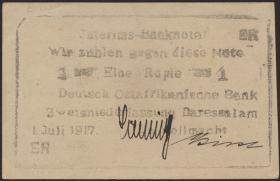 R.936a: Deutsch-Ostafrika 1 Rupie 1917 ER (1)