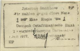 R.936b: Deutsch-Ostafrika 1 Rupie 1917 EP (1)
